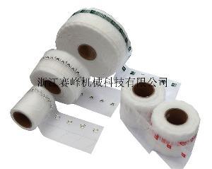 供应尼龙网布贴线贴吊牌机 玉米纤维网布贴标机