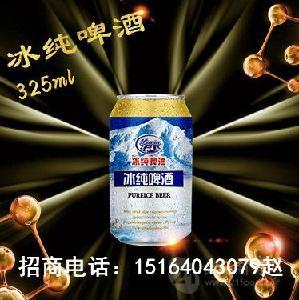 325毫升冰纯啤酒代理/啤酒厂家易拉罐啤酒招商