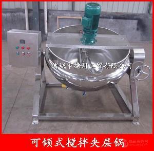 100L不锈钢电加热夹层锅 自动控温夹层锅 自动出料冷却锅