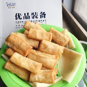 优品全自动春卷皮机 北京烤鸭饼机 煎卷饼设备