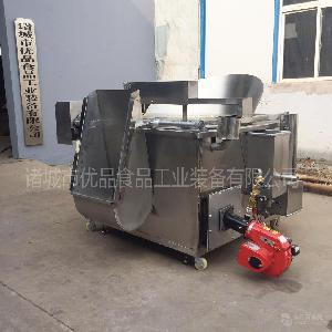 福建沙琪玛油炸锅 江米条自动搅拌油炸机 炸江米条机器