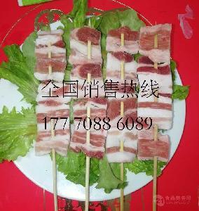 专业厂家批发10元30串40串铁板烧烤油炸猪肉串五花肉串