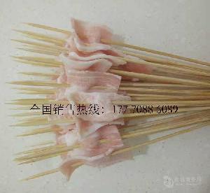 网红铁板猪肉串铁板鸭肠串铁板鸡肉小串铁板鱿鱼串厂家大量批发