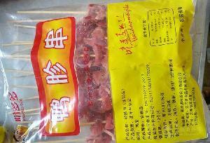 专业厂家批发10元30串10元40串铁板烧烤油炸猪肉串鸭胗串