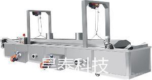 薯条牛肉干休闲食品电加热全自动油炸线 HT-YZ-6000