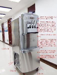 冰淇淋机郑州哪里有卖广绅230冰激凌机三口商用