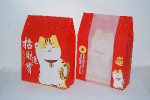 花式吐司纸袋 8片吐司开窗纸袋 450克吐司面包袋 红色吐司袋招财
