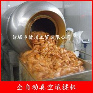 大肉块腌制滚揉机 鸡柳拌料搅拌设备 德川不锈钢真空滚揉机