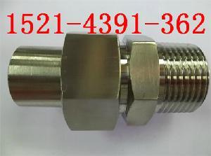 316不锈钢对焊式外螺纹直通终端变送器接头1/2NPT-BW¢14