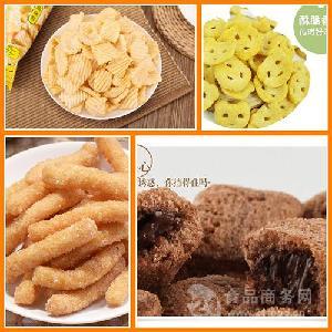 山东济南 麦香鸡块设备 休息食品膨化生产线 包物流