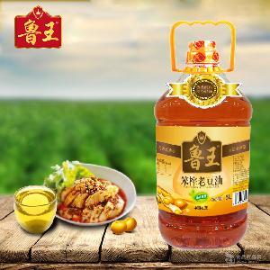 鲁王笨榨老豆油5L