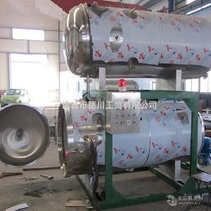 反压高温杀菌设备 北京烤鸭高温高压杀菌锅 双锅并联式杀菌锅