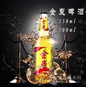 500毫升金麦啤酒