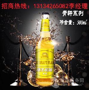 箱装青岛青轩啤酒加盟/大瓶啤酒批发