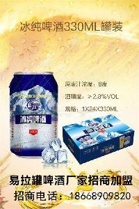 冰纯易拉罐啤酒代理加盟湘潭地区