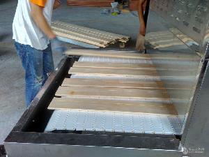 隧道式20HMV木材干燥杀虫卵设备采用链板带