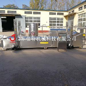 苏州春卷油炸机 全自动油炸流水线