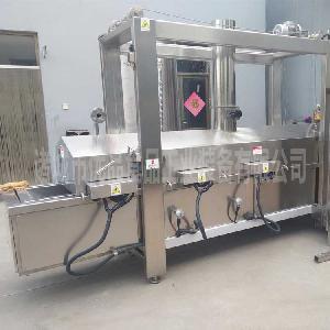 电加热全自动豆扣油炸机 猫耳朵油炸流水线 沙琪玛生产加工机器