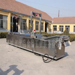 电加热节能型江米条油炸线 全自动秋葵酥油炸设备 网带运输油炸机