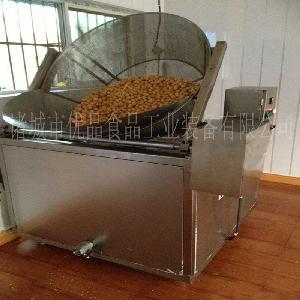 搅拌式无渣型麻花油炸机 翻斗式脆片油炸设备 炸江米条机器