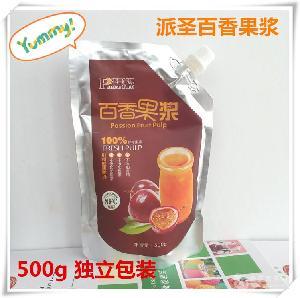 广西派圣百香果浆500g冲饮原浆果汁饮料咖啡奶茶烘焙店原料