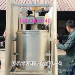 老母鸡鸡肉鸡脂炼制油牛肉板油火锅压榨机