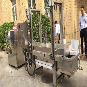 优品厂家直销海鲜天妇罗油炸机 芙蓉虾油炸流水线 豆巴子油炸机