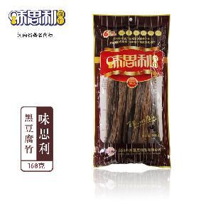厂家直销  纯手工无添加黑豆腐竹168g*35袋/箱 量大从优 腐竹批发