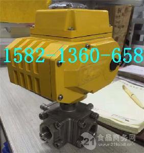 304不锈钢丝口电动四通球阀Q916F-16P DN25