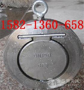 304不锈钢高温氟橡胶对夹式止回阀H74X-16P DN100