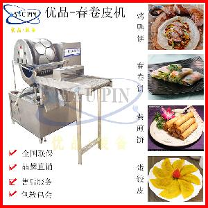 圆形春卷皮机 无噪音家用电热烤鸭饼机 糖葱薄饼加工机器