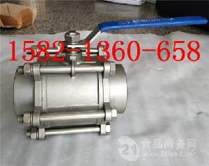 304/316不锈钢三片式全通径焊接球阀Q61F-16P/R DN40