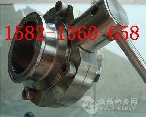 304不锈钢卫生级快装卡箍式蝶阀D81X-10P 63