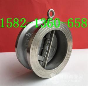 不锈钢304美标双瓣对夹式蝶形止回阀H76W-150LB DN80