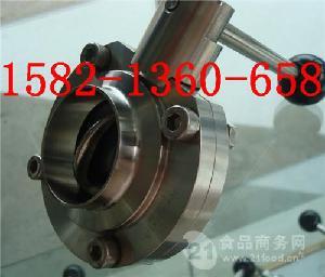 304不锈钢卫生级焊接蝶阀D61X-10P Φ57 63 76 89