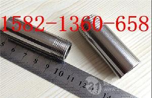 304不锈钢100mm加长单头外丝DN32DN50