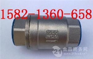 H12W-16P DN50不锈钢立式丝口止回阀