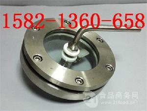 碳钢/304/316L不锈钢法兰带刮板/带刷/带刮刀视镜DN100