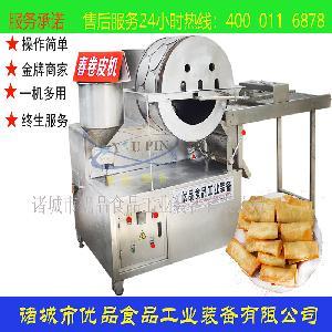 国内自动烤鸭饼机优品机械 推荐好用春卷皮机 蛋饺皮成型机