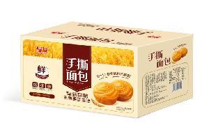 蛋糕厂家河南君凡食品耀友原味手撕面包招商中