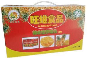 糖水菠萝罐头食品礼盒装300g*8罐 厂家直销批发 一件代发 招代理