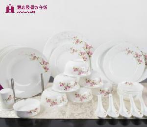 高淳陶瓷 白牡丹系列 姹紫嫣红 中式骨瓷陶瓷