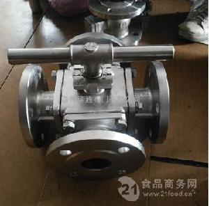 四通法兰式不锈钢球阀Q46F-166 25P 304