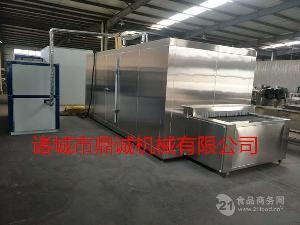 黄桃速冻隧道机---速冻蔬菜水果设备