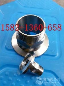 304不锈钢卫生级真空KF六角卡盘外丝接头KF16/25/40/50