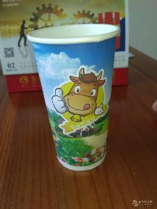 酸奶纸杯鲜奶纸杯奶吧专用纸杯70mm口径200ml包物流