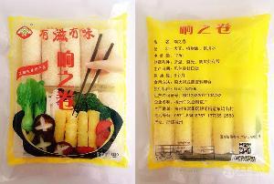 直销 香港黄金卷 响铃卷 响之卷 油炸豆腐皮 火锅食材125g/包