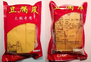 豆腐皮厂家直销 杭州特产厚豆腐衣 火锅食材 油豆皮豆油皮150g/包