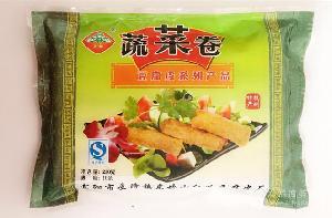 豆腐皮厂家直销 蔬菜卷 豆制品 速冻食品  杭州东坞山特产230g/包