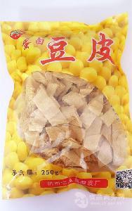 豆腐皮厂家直销 豆制品 蛋白豆皮 豆美丝豆腐衣 杭州特产250g/包